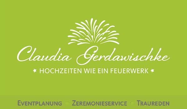 Logo Claudia Gerdawischke - Hochzeiten wie ein Feuerwerk