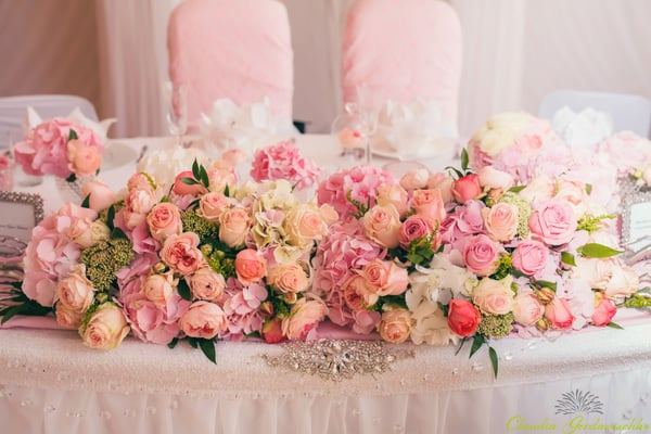 Decoration wedding flowers rings