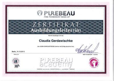 Zertifikat Ausbilder PM 2012 Purebeau